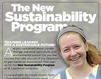 Poster for Sustainability Program at St. Lawrence Univ.