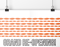 Grand Re-Opening event poster