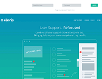 Landing page for elevio website overview