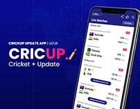 CricUp App Design