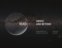 IAU100 exhibition – branding and visual design