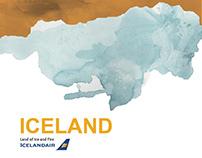 IcelandAir brochure design