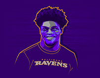 Lamar Jackson - Illustration