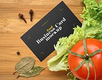 Free Food Business Card Mockup