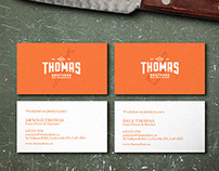 Thomas Brothers Butcher - Identity, Cards, & Tagline