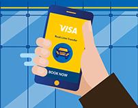 Visa Airport App illustrations