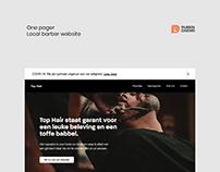 Top Hair - Barbershop (Website Design)