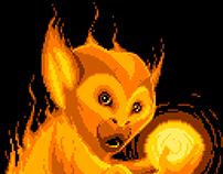 Fire Monkey (pixelart)