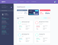 Real Estate Saas Dashboard - Violet, Blue and Awesome