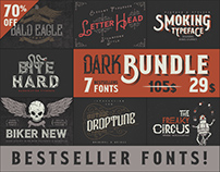 Dark Bundle: 7 Bestseller Fonts