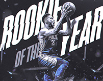 NBA Art | Ben Simmons #25 | Rookie Of The Year 2018 v2