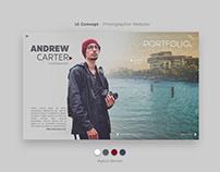 Ui Concept | Photographer Website