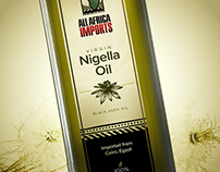All Africa Imports - Black Seed Oil Label