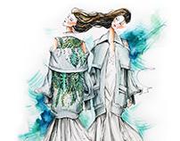 """""""Em hoa"""" by Nguyen Cong Tri Tokyo Fashion Week Fall17"""