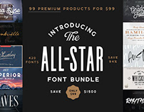 THE ALL-STAR FONT BUNDLE