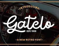 Gatelo Retro Script Font