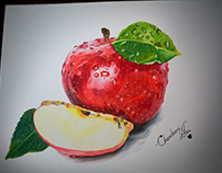Drawing an apple
