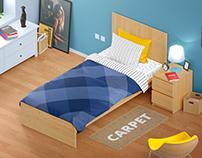 Bedding Set Mockup | Single Bed
