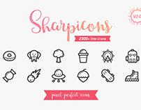 Sharpicons 2300 Line Icons