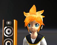 3D Character Modeling Len Kagamine