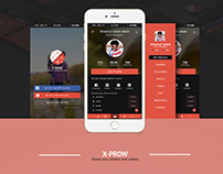 X-PROW Share Your Photo And Videos App concept