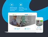 Hosting Movistar Landing Page