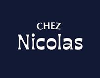Chez Nicolas – Naming, logo, poster restaurant