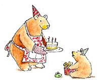 Birthday themed illustrations