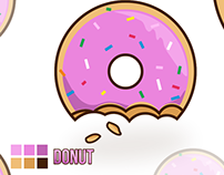 Vector Donut - Simpsons Style