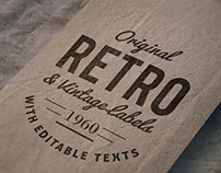 Retro Logo Mockup Free Download