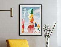 Free Modern Interior Artwork Frame Mockup