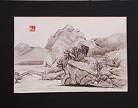 Chinese ink - landscape