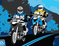 Group Rides illustration and poster
