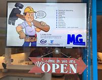 MG Building Maintenance, TV Display