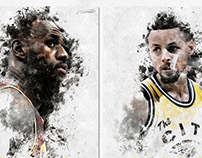 Artwork for Game 2 of the NBA Finals