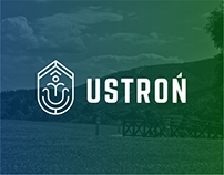 USTROŃ - town logo and CI proposition