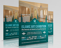 Islamic Art Exhibition Flyer Template