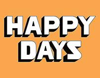 "LETTERING SINGOLO ""HAPPY DAYS"" GHALI"