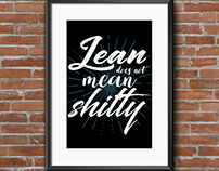 Lettering : lean does not mean shitty