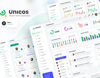 Unicos - Professional Modern Admin Dashboard Figma