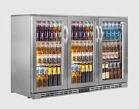 Interlevin PD30H SS Triple Door Bottle Cooler 340 Ltr