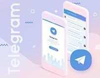 Telegram Messenger App for IOS. Redesign