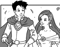 Commissioned one-page comic/manga