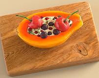 Papaya. Modelagem e render no Modo. #MODO #papaya #fru