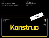 Konstruc Variable (Free Typeface)
