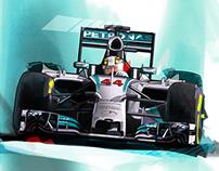 Lewis Hamilton MERCEDES AMG PPETRONAS F1 TEAM 2014 W05