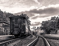 By train through Rügen / Germany