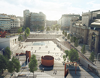 Three City Squares, Competition