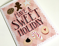 Sweet Holiday Christmas Card Stationery