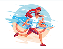illustration for sport event